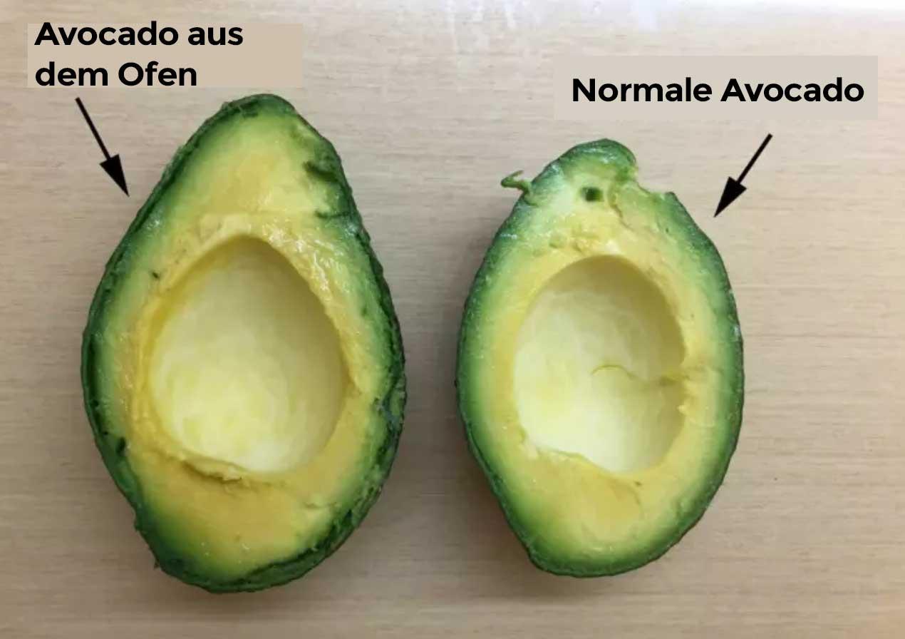 Avocado im Ofen reifen