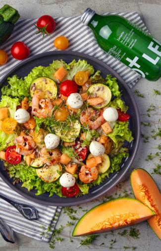 Melonen-Schaluppi-Salat