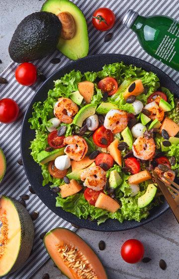 Melonen Schaluppi Salat